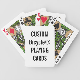 Projete seus próprios cartões de jogo feitos sob jogo de baralho