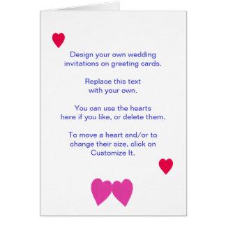 Projete seus próprios convites do casamento em cartão comemorativo