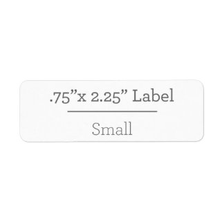 Projete sua própria etiqueta 8,5 x 11 etiqueta endereço de retorno