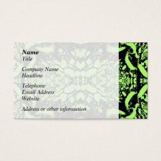 Projeto abstrato verde-claro e preto cartão de visitas