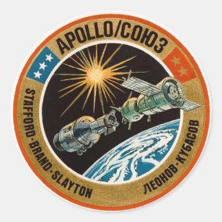 Projeto do teste de Apollo-Soyuz Adesivo