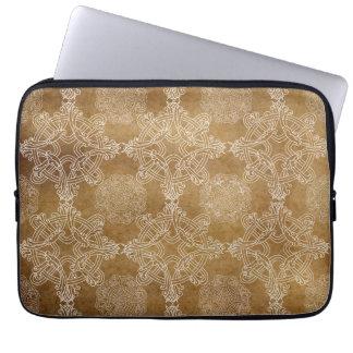 Projeto ornamentado branco capa de notebook