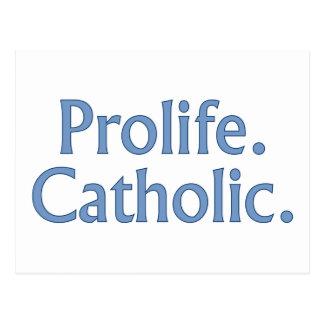 Prolife. Católico Cartão Postal