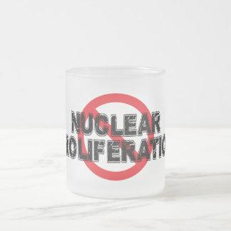 Proliferação nuclear da proibição caneca de café vidro jateado