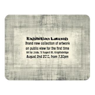 Promoção do lançamento da arte da exposição do convite 10.79 x 13.97cm