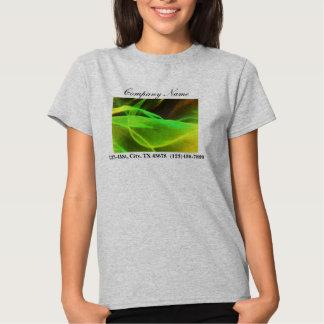 promocional abstrato de néon do negócio das ondas camisetas