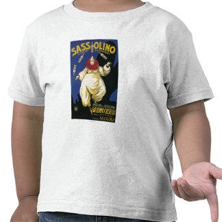 Promocional da sobremesa de Sassolino Liquore a Camiseta