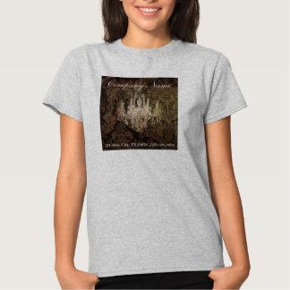 promocional elegante do vintage do candelabro do tshirt