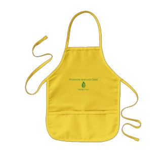 Promova o gás natural avental infantil