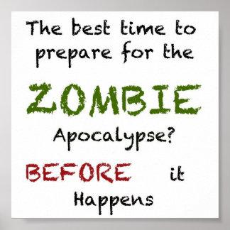 Prontidão do zombi pôster