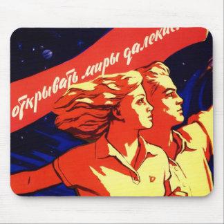 Propaganda comunista do espaço do vintage do russo mouse pad