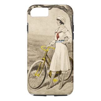 Propaganda da bicicleta da mulher do 1920 do capa iPhone 7