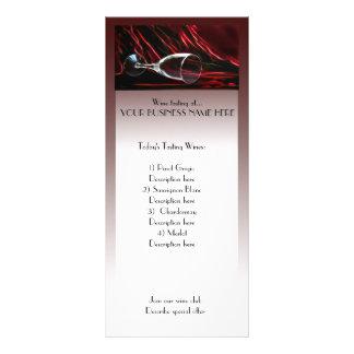 propaganda da cremalheira da degustação de vinhos 10.16 x 22.86cm panfleto