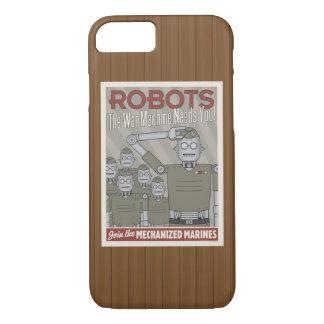 Propaganda das forças armadas do robô do estilo do capa iPhone 7