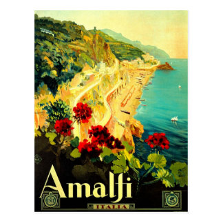 Propaganda de Amalfi Italia Italia VintageTravel Cartão Postal