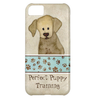 Propaganda de negócio do Doggy das patas de Brown Capa Para iPhone 5C