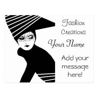 Propaganda do desenhador de moda cartão postal