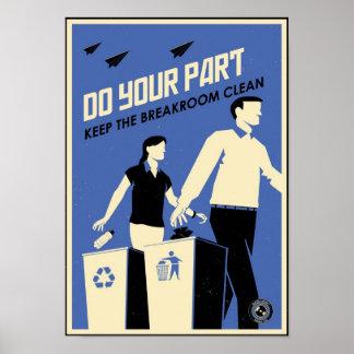 Propaganda do escritório: Breakroom (azul) Poster