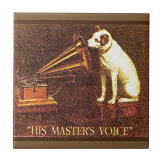 Propaganda do vintage, a voz do seu mestre azulejo de cerâmica