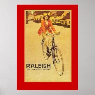 Propaganda do vintage, bicicletas de Raleigh Pôster
