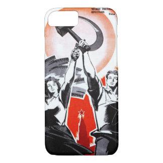 Propaganda do vintage do russo capa iPhone 7