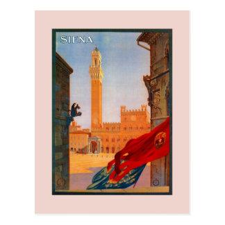 Propaganda italiana do viagem de Siena do vintage Cartão Postal
