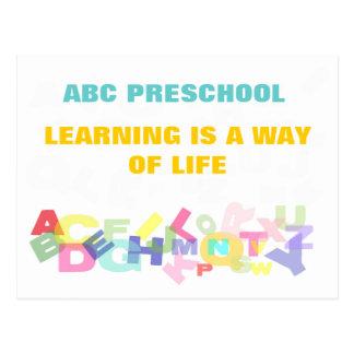 Propaganda pré-escolar cartão postal
