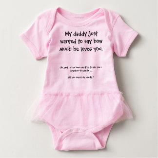 Proposta de casamento bonito body para bebê
