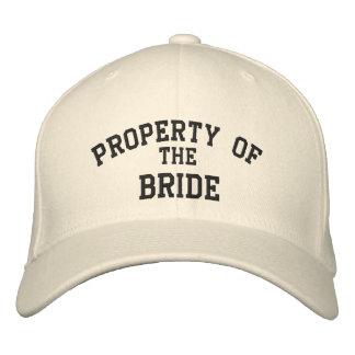 Propriedade da noiva boné bordado