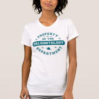 Propriedade do departamento da paleontologia camiseta
