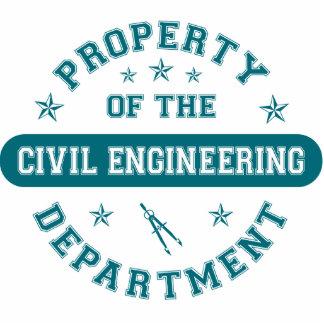 Propriedade do departamento de engenharia civil escultura de fotos