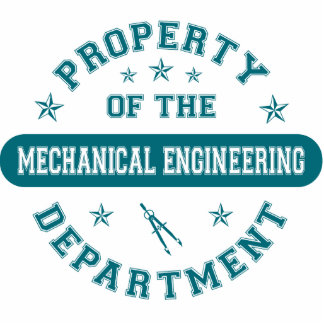 Propriedade do departamento de engenharia mecânica escultura foto