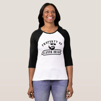 Propriedade do Slaver Brian (mulheres) Tshirt