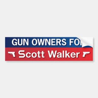 Proprietários de arma para o caminhante de Scott Adesivo Para Carro