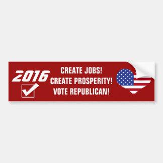 Prosperidade 2016-Create republicana do voto! Adesivo Para Carro