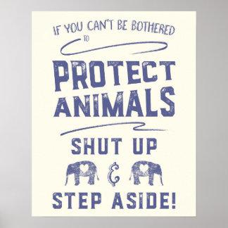 Proteja animais pôster