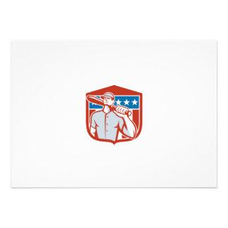 Protetor americano do bastão da massa do basebol convite personalizado