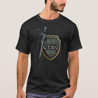 Protetor & espada escoceses do Tartan de Craig do T-shirts
