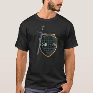 Protetor & espada escoceses do Tartan de Galbraith Camiseta