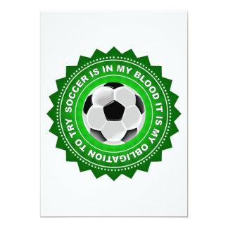Protetor fantástico do futebol convite 12.7 x 17.78cm