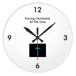 Provando a cristandade - todo o tempo (grande) relógio de parede