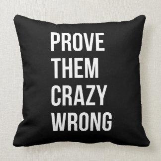 Prove as citações inspiradores W preto Bol do Travesseiros
