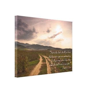 Provérbio 3; 5- 6% pipe% inspirado impressão em canvas