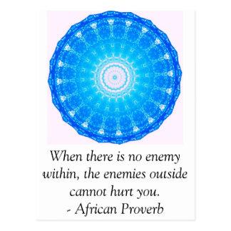 Provérbio africano INSPIRADO Cartão Postal