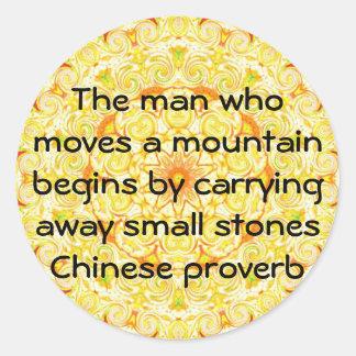 Provérbio chinês inspirado adesivo