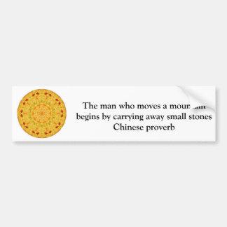 Provérbio chinês inspirado adesivo para carro