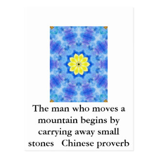 Provérbio chinês inspirado cartão postal