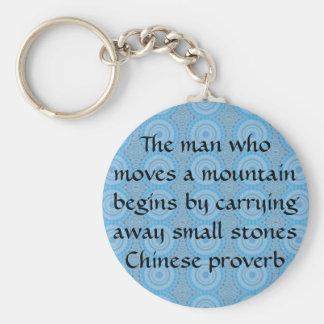 Provérbio chinês inspirado chaveiro