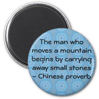Provérbio chinês inspirado imãs de geladeira