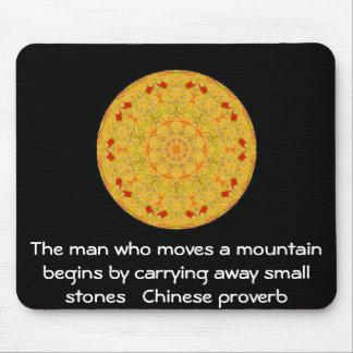 Provérbio chinês inspirado mouse pad